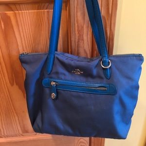 Coach Zip Tote Purse Handbag 35500 Peacock Teal